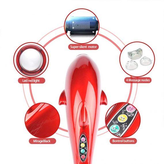 0382 3 in 1 Dolphin Handheld Massager - DeoDap