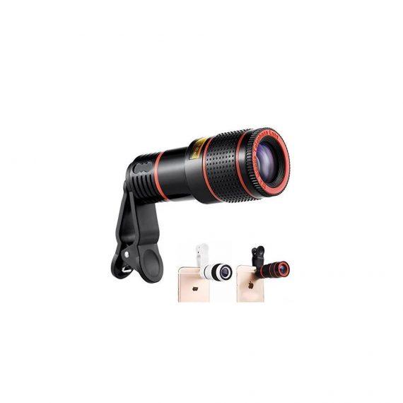 0319 Clip-on 8X Optical Zoom Telescope Phone Camera Lens - DeoDap