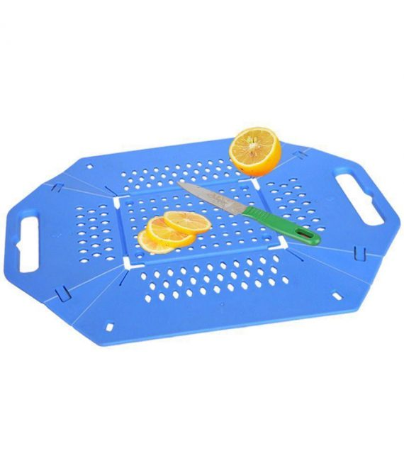 0704 -3 in 1 Fruit & Vegetable Chopping Board Wash Folding Basket - DeoDap