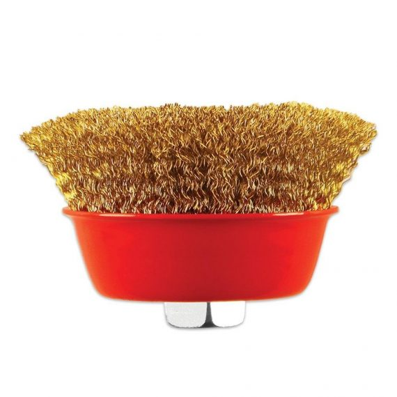 0194 Wire Wheel Cup Brush (Gold) - DeoDap