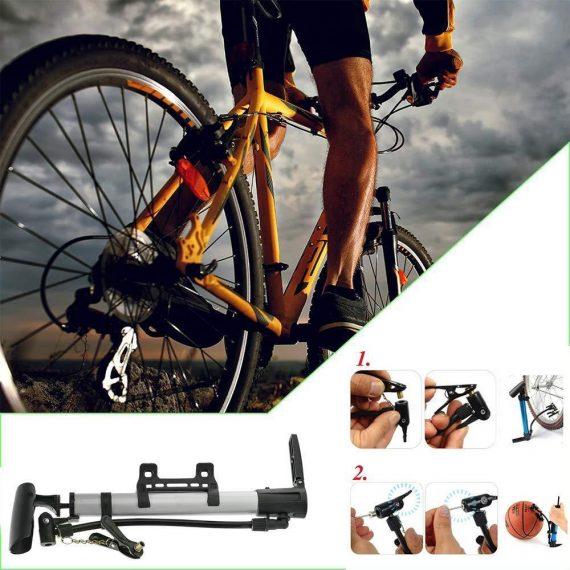 0544 Aluminum Mini Bicycle Air Pump (Multicolor) - DeoDap