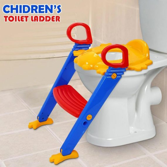 0344 -3 in 1 Kids/Toddler Potty Toilet Seat with Step Stool Ladder (Multicolour) - DeoDap