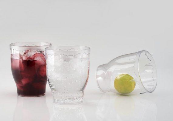 0621 Stylish look Fancy Glass, Transparent Glasses Set 300ml - DeoDap