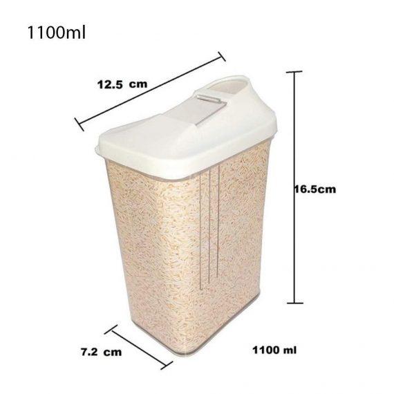 0149 Plastic Transparent Cans, Jars Storage Bottles, Storage Box (1100 ml, 1pc) - DeoDap