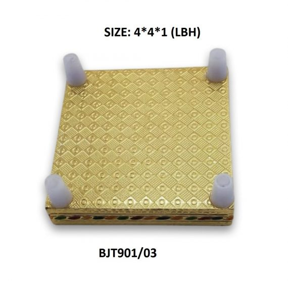 2122 Multipurpose Traditional Decorative Design Wooden Chowki/Bajot - DeoDap