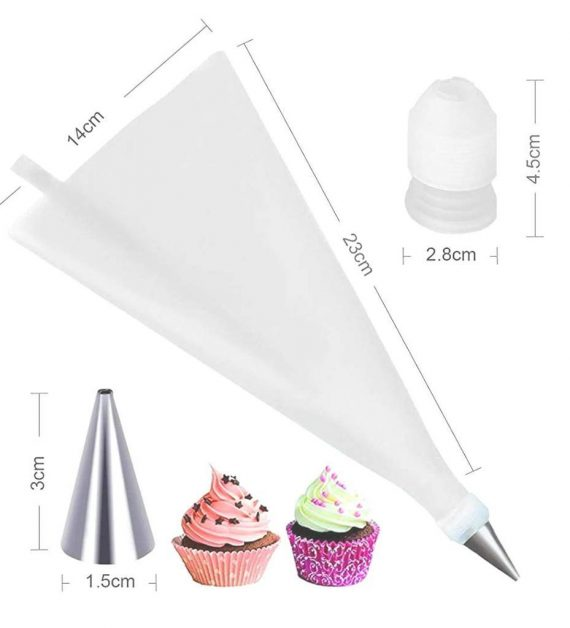 0805 Cake Decorating Nozzle with Piping Bag Stainless Steel Piping Cream Frosting Nozzles - DeoDap