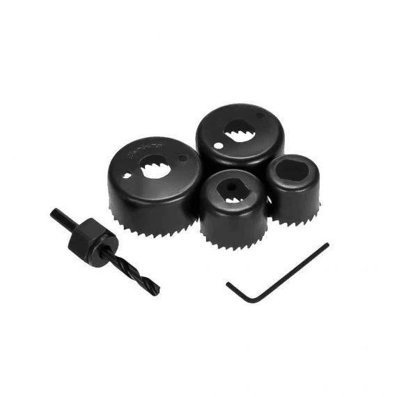 0433 Hole Saw Set Drill Bit set 32mm/38mm/44mm/54mm (6 pcs) - DeoDap