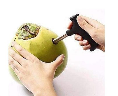 0854 Premium Quality Stainless Steel Coconut Opener Tool/Driller with Comfortable Grip - DeoDap