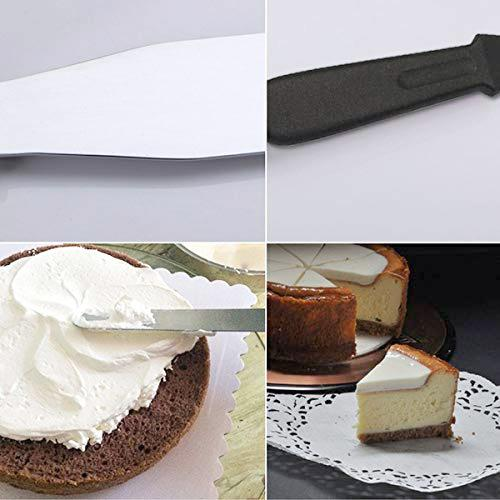 0844 Stainless Steel Palette Knife Offset Spatula for Spreading and Smoothing Icing Frosting of Cake 12 Inch - DeoDap