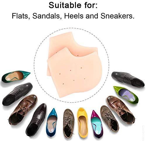 1277 Anti Crack Silicon Gel Heel Moisturizing Socks for Foot Care Men Women (Loose Pack) - DeoDap