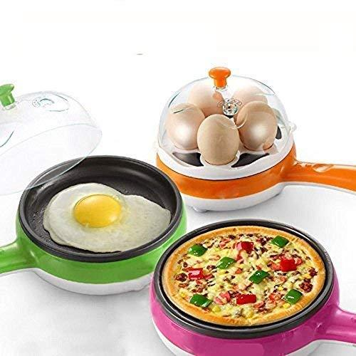 2150 Multi functional Electric 2 in 1 Egg Frying Pan with Egg Boiler Machine Measuring Cup with Handle - DeoDap