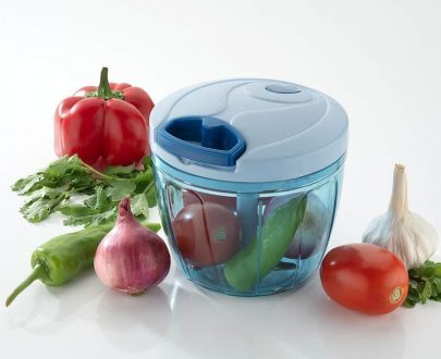 0738 Compact & Powerful Hand Held Vegetable Chopper with 2 Blade (650 ml) - DeoDap