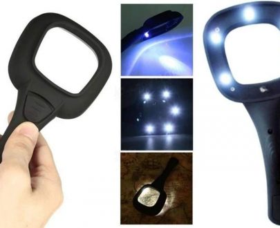 0557 Hand Held Optical Grade Magnifying Glass with 6 LED Lights - DeoDap