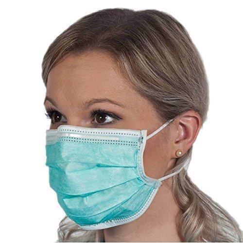 0387 Plastic Disposable Ear Loop Elastic 3 Layer Face Mask (Blue) - DeoDap