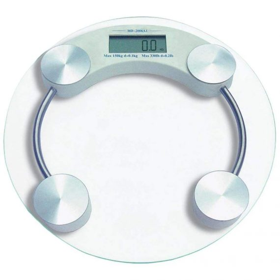 0169 -8mm Electronic Tempered Glass Digital Weighing Scale - DeoDap