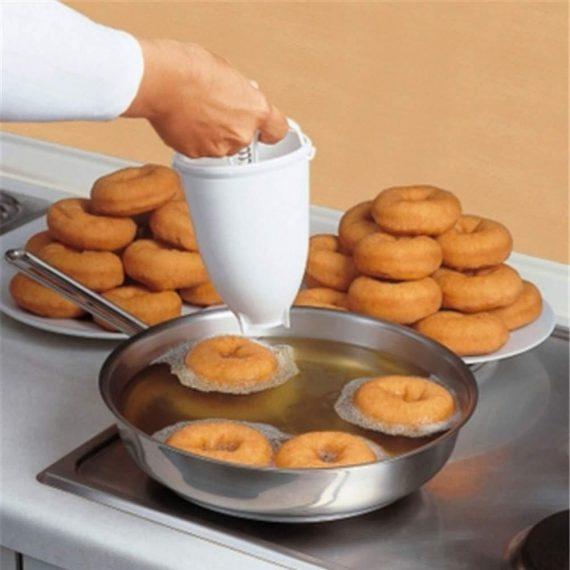 0646 Mini Donut Maker Dispenser - Plastic Vada/Meduwada Maker - DeoDap