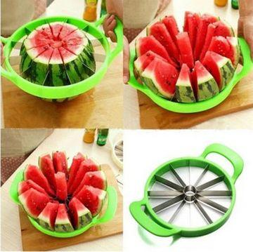 0848 Premium Watermelon Slicer/Cutter with Large Stainless Steel Blades - DeoDap