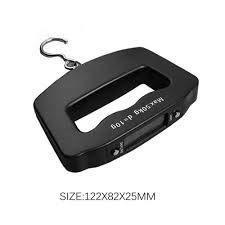 0548 Black Digital Portable Luggage Scale with LCD Backlight (50 kg) - DeoDap