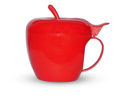 0864 Fancy Apple Shaped Plastic Tea/Coffee Mug or Cup With Lid - DeoDap