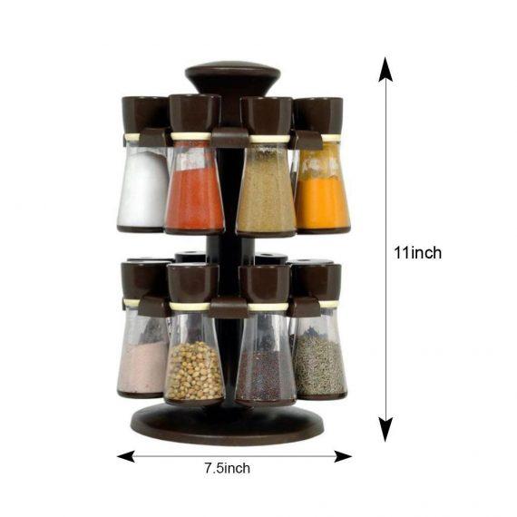 0103 Revolving Plastic Spice Rack  (16 Pcs) - DeoDap