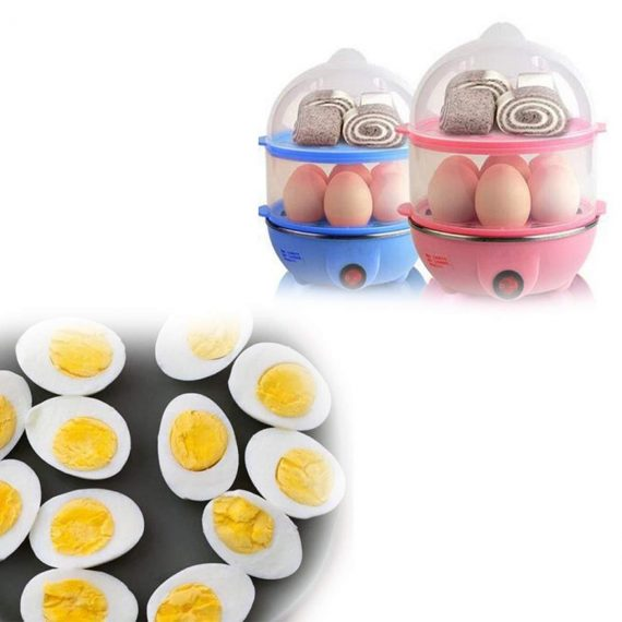 0115 Multi-Function 2 Layer 14 Egg Cooker Boilers & Steamer - DeoDap