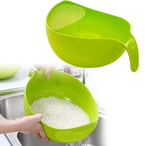 0156 Rice Bowl Thick Drain Basket with Handle - DeoDap