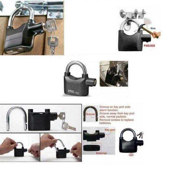0185 Anti Theft Security Pad Lock with Smart Alarm - DeoDap
