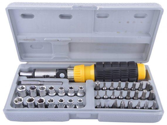 0423 Socket and Screwdriver Tool Kit Accessories (41 pcs) - DeoDap
