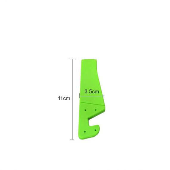 0288 Universal Phone Stand Foldable V Shape Mobile Mount Stand Holder Bracket (Random Color) (Pack of 4) - DeoDap
