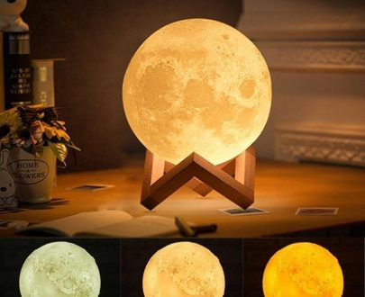 0177 03D Moon Lamp India/Moon Shaped Lamp/Led Moon Lamp/Lunar Moonlight Lamp - Multi Color - DeoDap