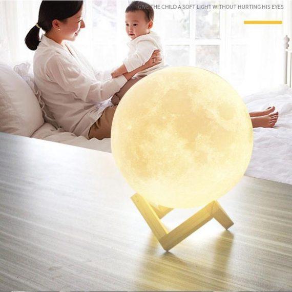0177 03D Moon Lamp India/Moon Shaped Lamp/Led Moon Lamp/Lunar Moonlight Lamp - Multi Color - DeoDap