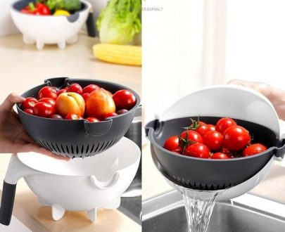 2161 10 in 1 Multifunctional Vegetable Fruits Cutter/Slicer Shredder with Rotating Drain Basket - DeoDap