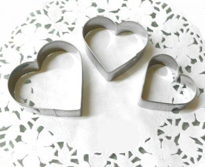 0818 Heart Cake Ring Stainless Steel Cutter for Cake Set of 3 pieces heart shape (small medium and large) - DeoDap