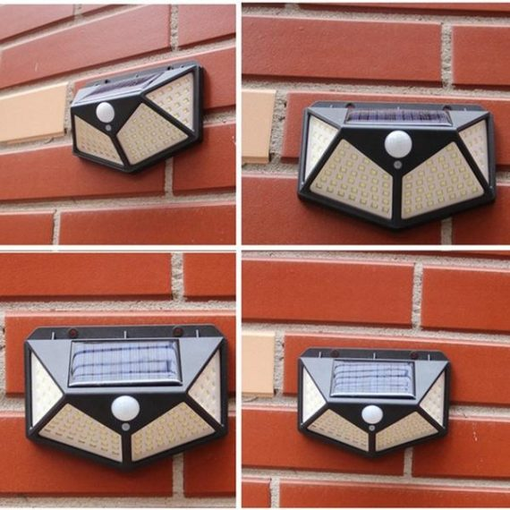 1255 Solar Lights for Garden LED Security Lamp for Home, Outdoors Pathways - DeoDap