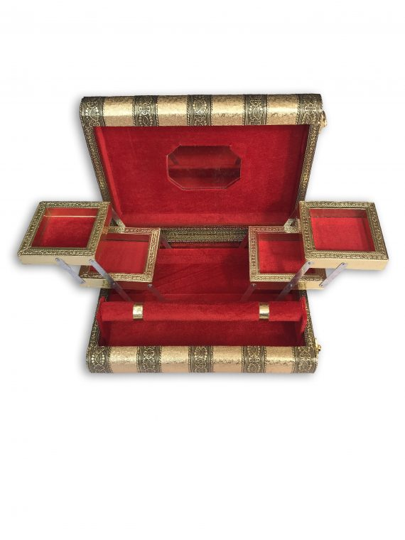 2124 Jewellery Jewel Boxes Storage Box Organizer Gift Box for Women Necklace Earring Set Bangles Churi Gift for Women - DeoDap