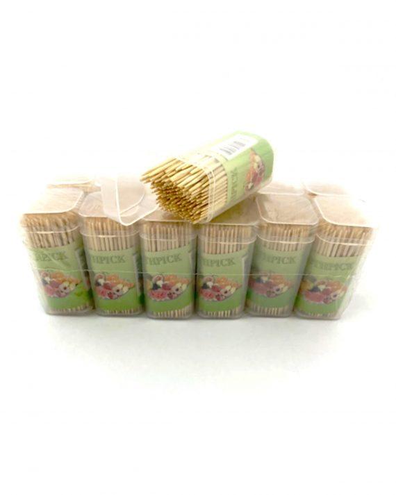 0834 Wooden Toothpicks with Dispenser Box - DeoDap
