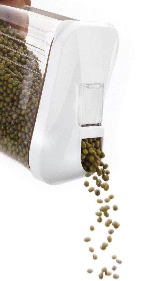 2165 Transparent Plastic Air Tight Food Storage Container Jar Dispenser for Kitchen - 750 ml (Set Of 3) - DeoDap