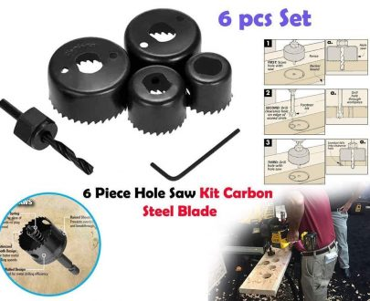 0433 Hole Saw Set Drill Bit set 32mm/38mm/44mm/54mm (6 pcs) - DeoDap