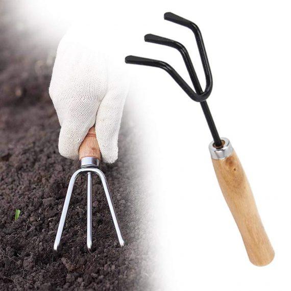 0474 Hand Cultivator (Steel, Black) - DeoDap