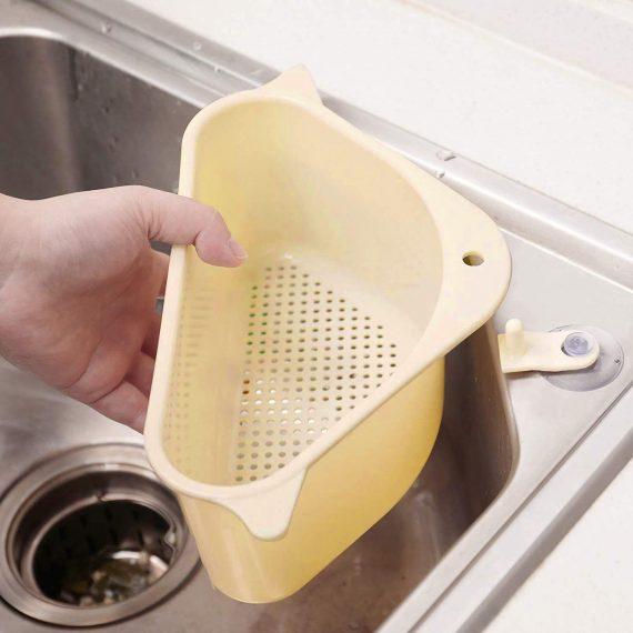 2119 Triangular Multi Functional Drainer Shelf Sink Storage Holder - DeoDap