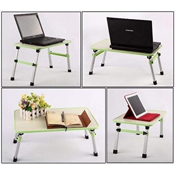0334 Adjustable Laptop Desk Table/Study Table/Bed Table - DeoDap