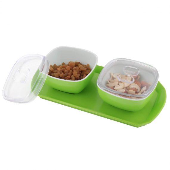 0077 Dryfruit Box, Chocolates Box, Sweet Box, Mouth Freshener Box, Indian Mukhwas Box (Set of 2, Orange) - DeoDap