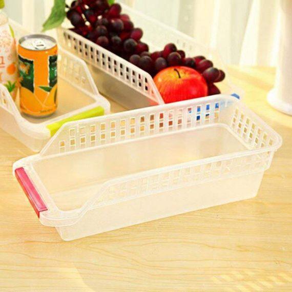 2055 Kitchen Plastic Space Saver Organizer Basket Rack- 4 pcs - DeoDap