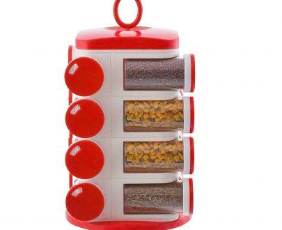 0166 Revolving Plastic Spice Rack Set (16pc) - DeoDap