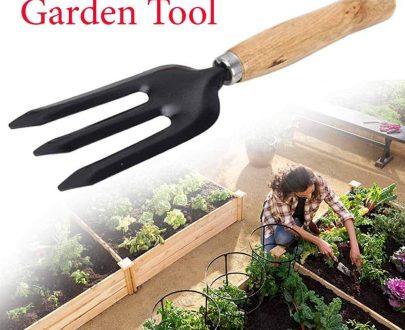 0475 Hand Weeding Fork (Steel, Black) - DeoDap