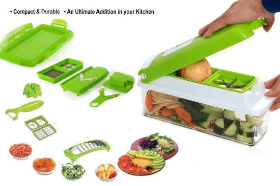 2056 Kitchen Multipurpose 12 in 1 Fruits & Vegetables Chopper Slicer Grater - DeoDap