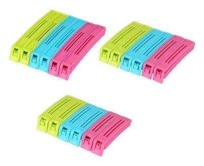 0105 Plastic Snack Bag Clip Sealer Set (18 Pcs, Multicolour) - DeoDap