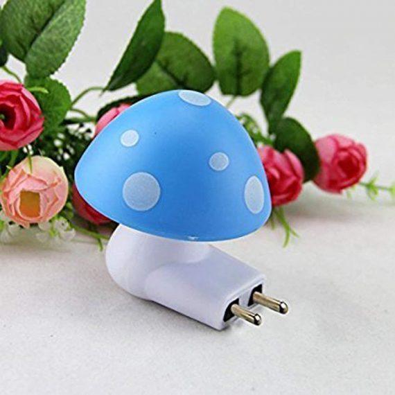 0254 Automatic Night Sensor Mushroom Lamp (0.2 watt, Multicolour) - DeoDap