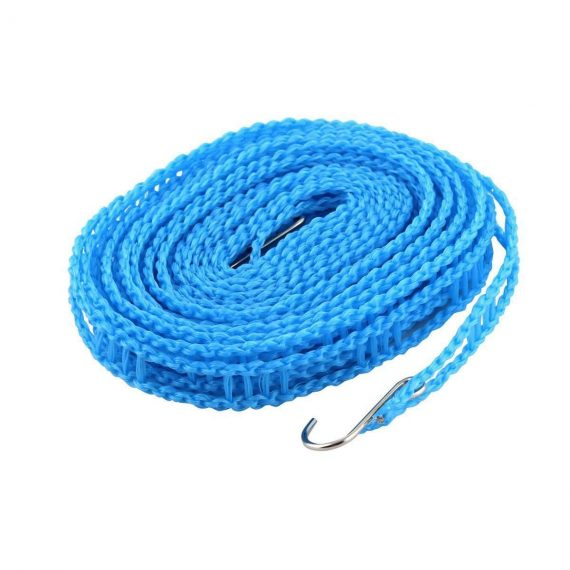 0190 Clothesline Drying Nylon Rope with Hooks - DeoDap