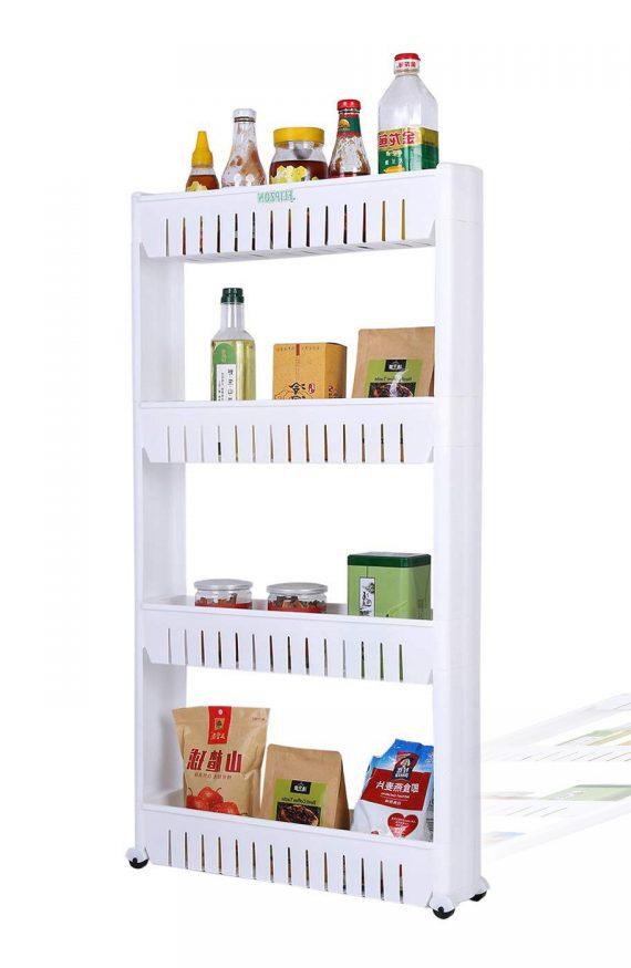 2120 Multipurpose 4 Layer Space Saving Storage Organizer Rack Shelf - DeoDap